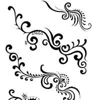 唯美精致藤蔓图腾纹身手稿图片