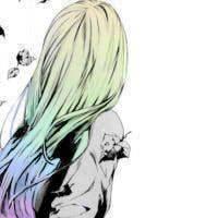 女生背影卡通qq头像 二次元的唯美小清新
