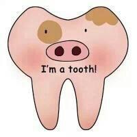 动画人物牙齿搞笑qq头像 我是一颗牙齿系列