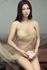 台湾美女薄纱大尺度性感写真