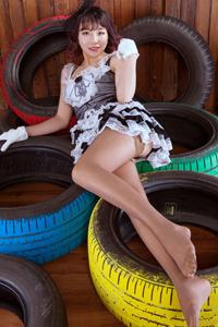 [丽柜写真]妖娆美腿佳人ALAN女仆装丝袜人体