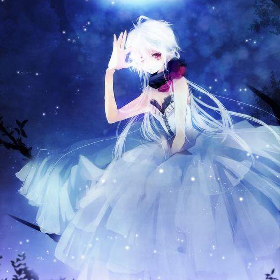 月光美女高清唯美动漫图片