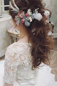 中短发新娘发型