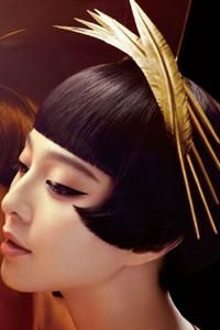 斜长刘海发型图片