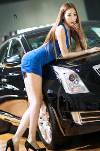 翘臀美女车模短裙高跟鞋美腿秀
