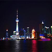 上海东方明珠梦幻风景高清图片