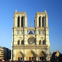 法国巴黎圣母院雄伟建筑图片