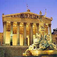金色维也纳辉煌建筑摄影图片