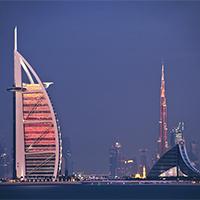 迪拜高楼特色建筑迷情夜景图片