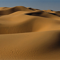 一望无际的沙漠风景图片大全
