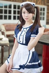 清纯台湾女生咖啡馆女仆装养眼图片