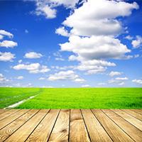 唯美阳光蓝天白云绿地图片