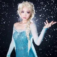 冰雪奇缘cosplay长裙萝莉梦幻图片