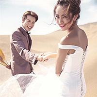沙漠意境婚纱照外景背景图
