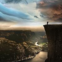 优美风景蓝天白云阳光图片