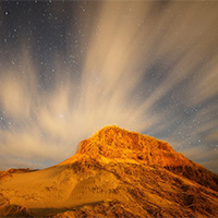 唯美星空沙漠伤感意境图片