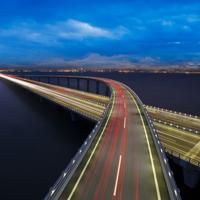 好看的交错纵横大桥图片