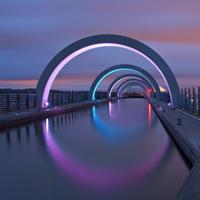 个性设计炫彩的桥图片
