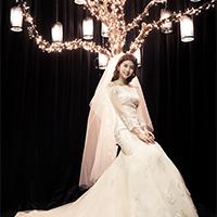 浪漫格调新娘抹胸婚纱礼服拖地