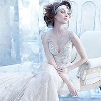 欧美新娘奢华亮钻婚纱礼服