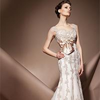 修身款式欧美婚纱礼服图片