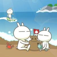 可爱卡通兔斯基的图片