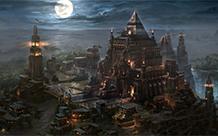 月光下繁华科幻城市壁纸图片