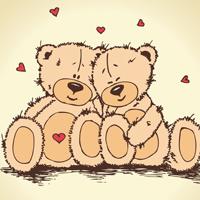 暖心的可爱卡通泰迪熊图片