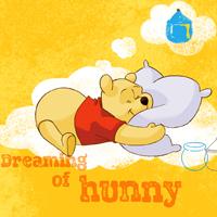 超可爱卡通小熊维尼睡觉图片