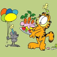 加菲猫的狂欢节可爱卡通壁纸