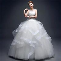 新娘单人高端婚纱礼服图片