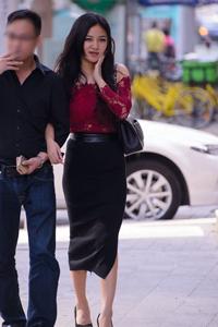 长腿高跟鞋美女诱惑街拍摄影