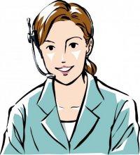 职业女性认真工作的卡通矢量