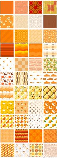 独特的橙色网页背景图片