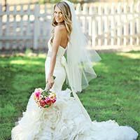 新娘高贵的婚纱礼服单人系列