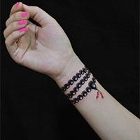 非主流纹身皮肤佛珠手链图案