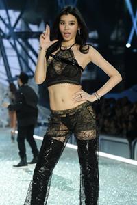 维多利亚秘密中国模特蕾丝内衣风情性感