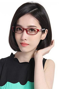波波头戴眼镜女士发型