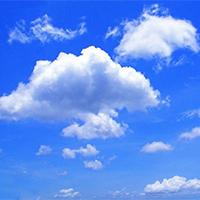 唯美清新蓝天白云背景图片