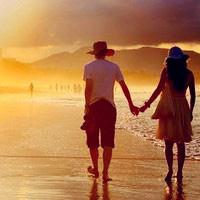 海边唯美情侣头像 幸福的意境
