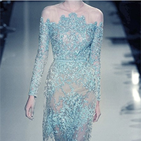 蓝色梦幻时尚婚纱礼服图片欣赏