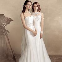 闺蜜时尚流行婚纱礼服图片