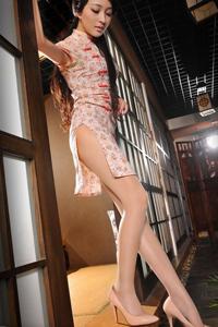 光亮肉丝袜美女图 高开叉旗袍丝袜美臀美女诱惑