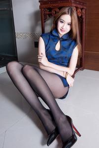 性感黑丝旗袍美女端庄气质美腿最加分