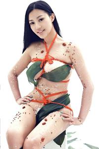 人体模特捆绑巨乳惹火重口味大尺度写真