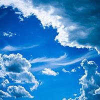 优美风景线蓝天白云高清素材