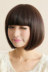 个性女生圆脸短发发型