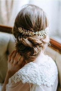 长发卷发韩式新娘发型图片