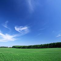 蓝天白云意境夏天的海边风景图片