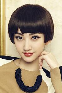 古力娜扎时尚气质长刘海发型